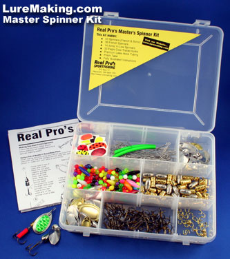 Real pro 39 s master 39 s in line spinner kit for Fishing lure kits make your own