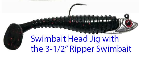 Ripper Swimbait Soft Bait Aluminum Mold ::: LureMaking com