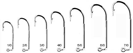 50 pk or 100 pk EAGLE CLAW 635 O/'Shaughnessy 90° Saltwater Jig Hooks 6//0 or 7//0