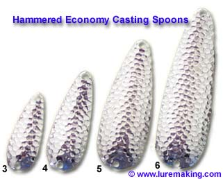 Bulk casting spoons casting spoon blanks hammered for Fishing spoon blanks