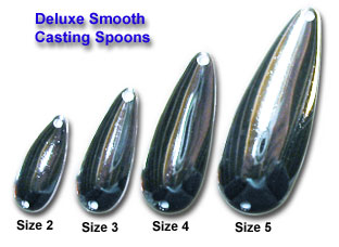 Deluxe casting spoons deluxe spoon blanks for Fishing spoon blanks