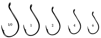 Fish hook size chart lookup beforebuying for Fishing hook size chart actual size