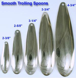Bulk trolling spoon blanks hex trolling spoons for Fishing spoon blanks